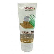 Face mask with therapeutic clay Multani Mitti, 60 g, Patanjali; Multani Mitti Face Pack, 60 g, Patanjali