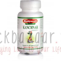 Kanchnar Guggul, cleansing the lymphatic system, Table 80, the manufacturer Baydyanath; Kanchnar Guggulu, 80 tabs, Baidyanath