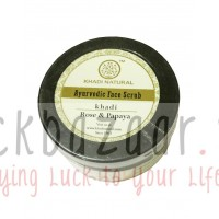 Face scrub Rose and Papaya, 50 g, manufacturer Khadi; Rose & Papaya Herbal Face Scrub, 50 g, Khadi